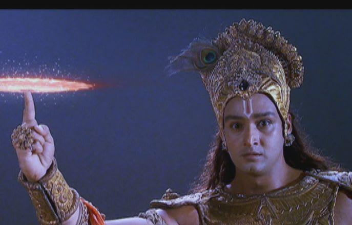 Krishna With Sudarshan Chakra Images Hd Wallpaper Directory